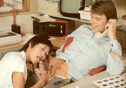 Boss and his Asian secretary give new meaning to the phrase hard day at work