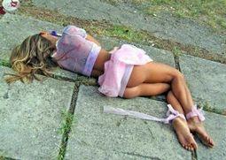 Drunk girl.