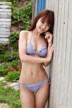 Misaki Nito Undress School Uniform Outdoor.