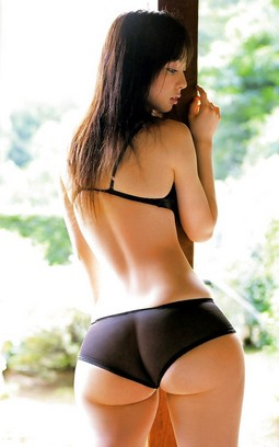 Lovely japanese in awesome thong pic.