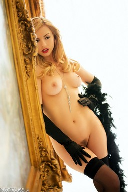 Lexi Belle in stockings.