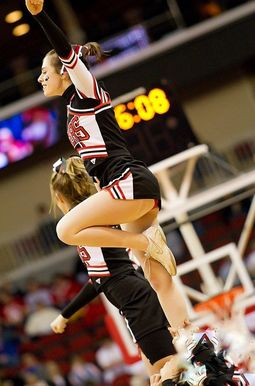 Sexy and funny girls cheerleaders